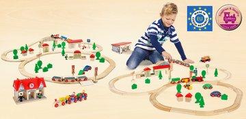 Holzschienenbahn